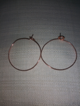Copper Hoop Earrings