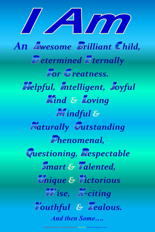 Children's Positive Affirmation posters