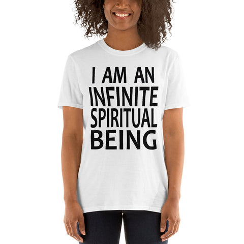 Positive Affirmation T-Shirts, Inspirational Affirmation Tees, Motivational Tees, I Am An Infinite Spiritual Being T-Shirt