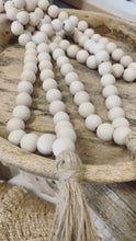 Load image into Gallery viewer, Timber beaded Garland Cream/Taupe