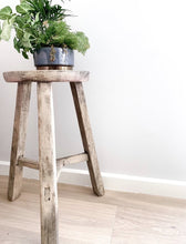 Load image into Gallery viewer, Round Reclaimed timber stool