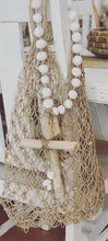Load image into Gallery viewer, Drifwood cross with white clay beads