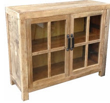 Load image into Gallery viewer, Natural Recycled Elm Sideboard with Glass Doors