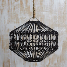Load image into Gallery viewer, Luna Flat Rattan Light Shade Natural