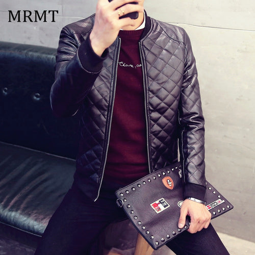 Mens Leather Bomber