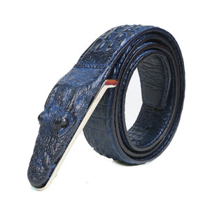 3D crocodile famous brand Leather Belt homme