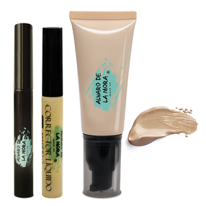 Kit Corrector liquido Amarillo - Make Up Liquido Mediano - Delineador