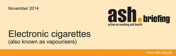 ASH Briefing on Electronic Cigarettes (Personal Vapourisers)