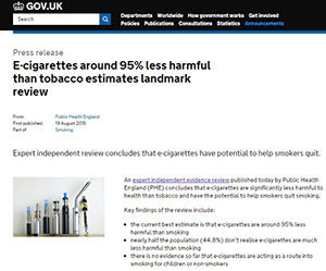 Public Health England Report on Ecigarettes