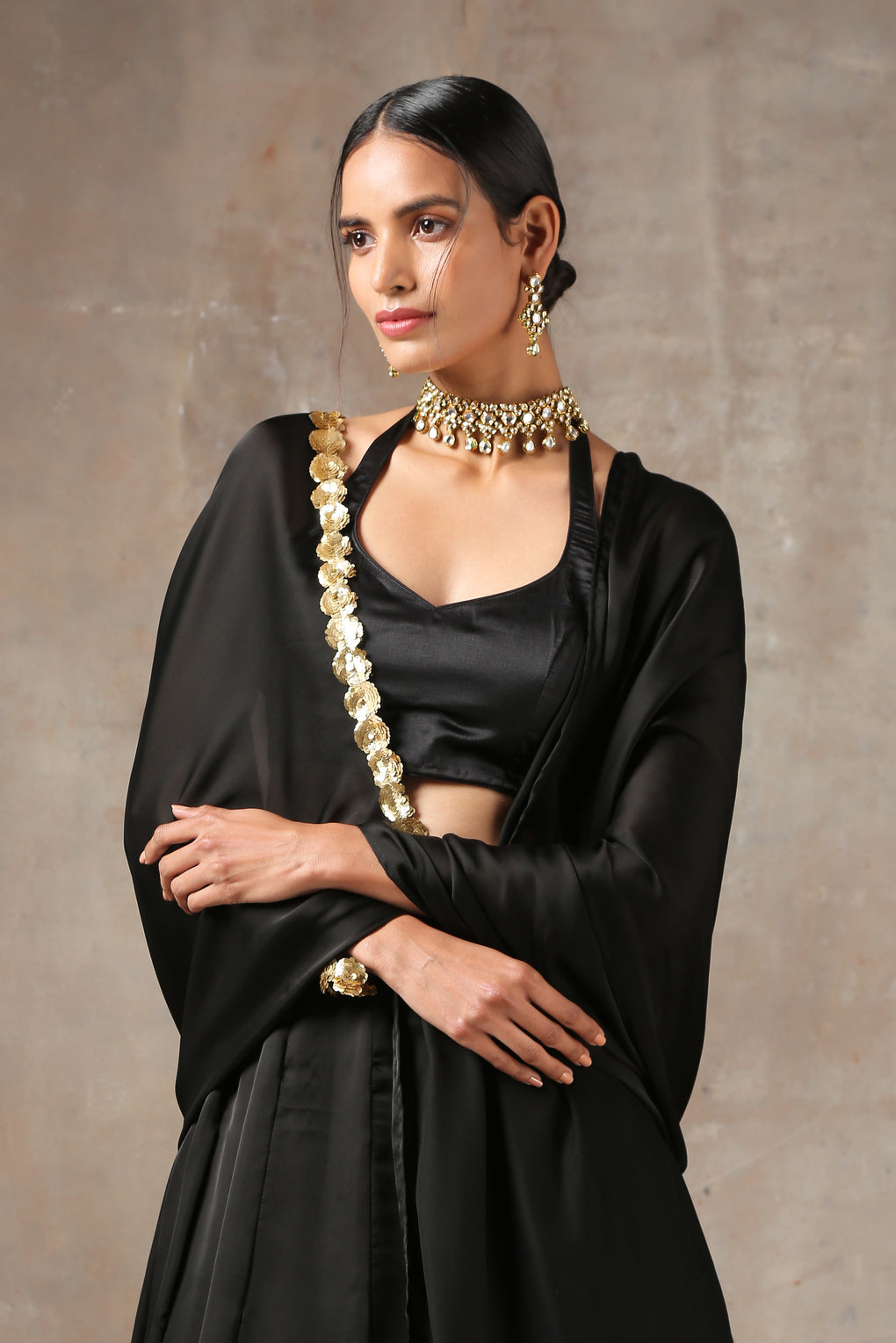 Regal Black Lehenga