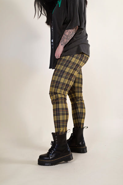I LIKE ME BETTER PLAID SKINNY PANTS