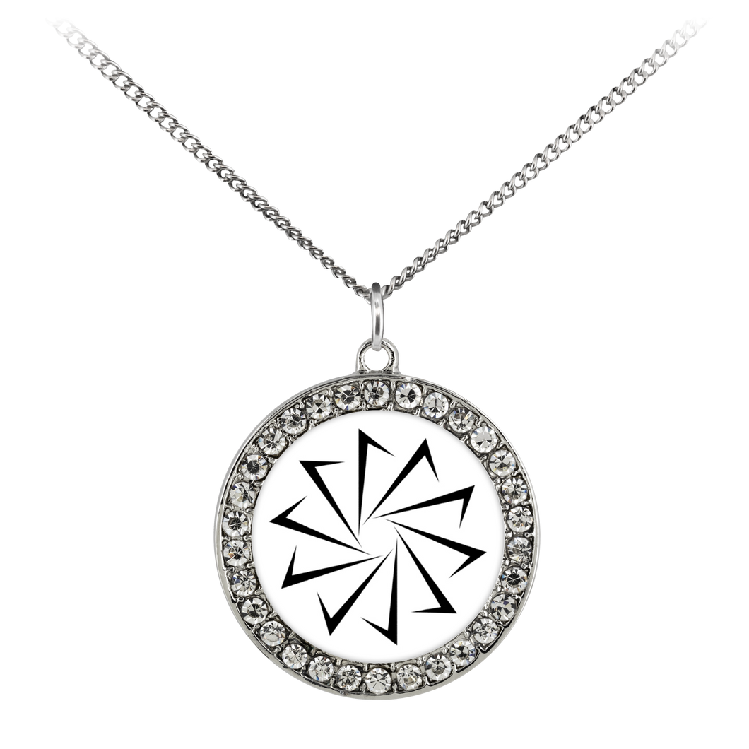 Decagon Stone Coin Necklace