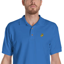 Load image into Gallery viewer, Eagle, Globe, and Anchor Marine Corps Embroidered Polo Shirt