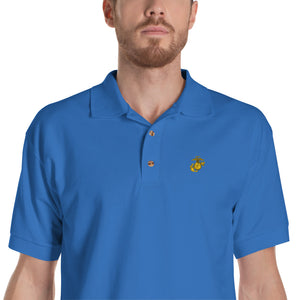 Eagle, Globe, and Anchor Marine Corps Embroidered Polo Shirt