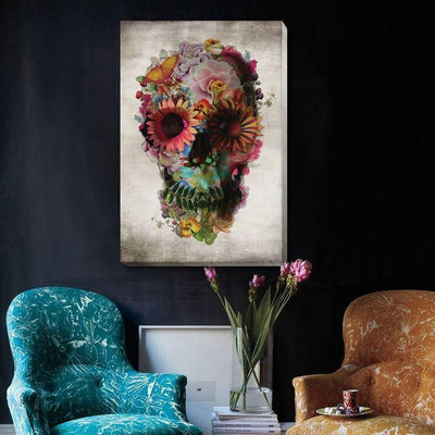 Sugar Skull Abstract Canvas Prints