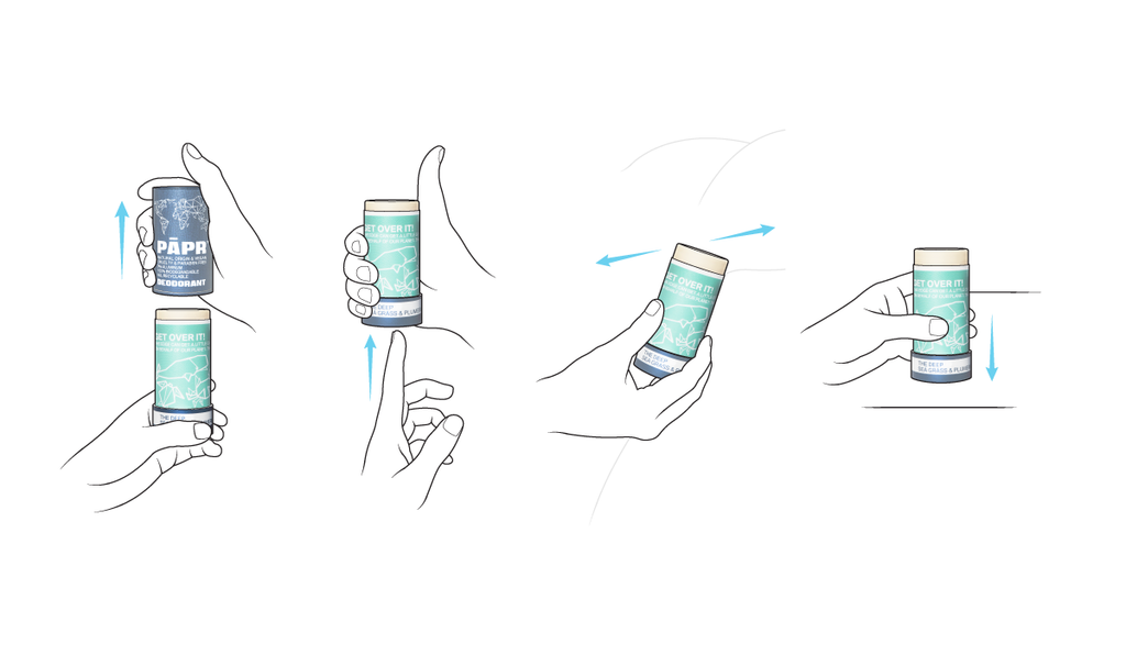 How to apply our Paper Deodorant Stick?