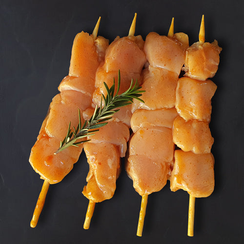 BBQ Chicken Kebabs (x4)