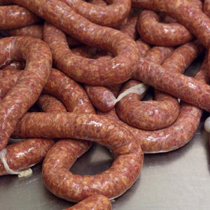 raw Calabrese sausages from Bocca di Lupo