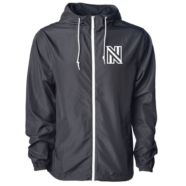NuFo Icon Heart Lightweight Windbreaker - Wht on BlkWht
