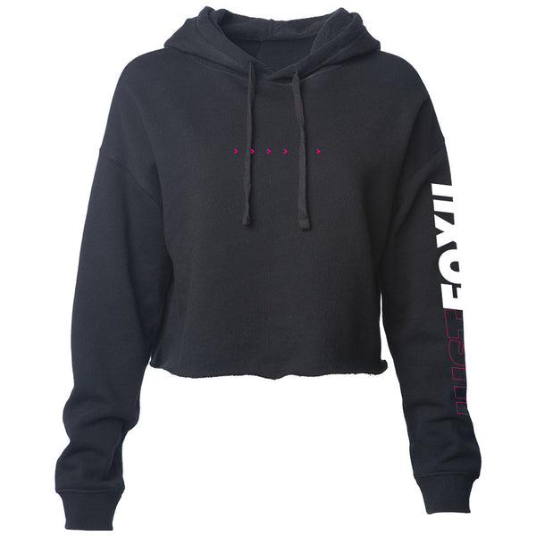 justfoxii Arrows Combo Girls Lightweight Crop Hoodie