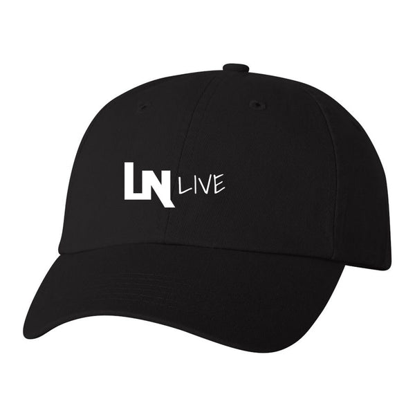 LAURENICKYLIVE Icon Dad Hat - Wht on Blk - Clearance Item