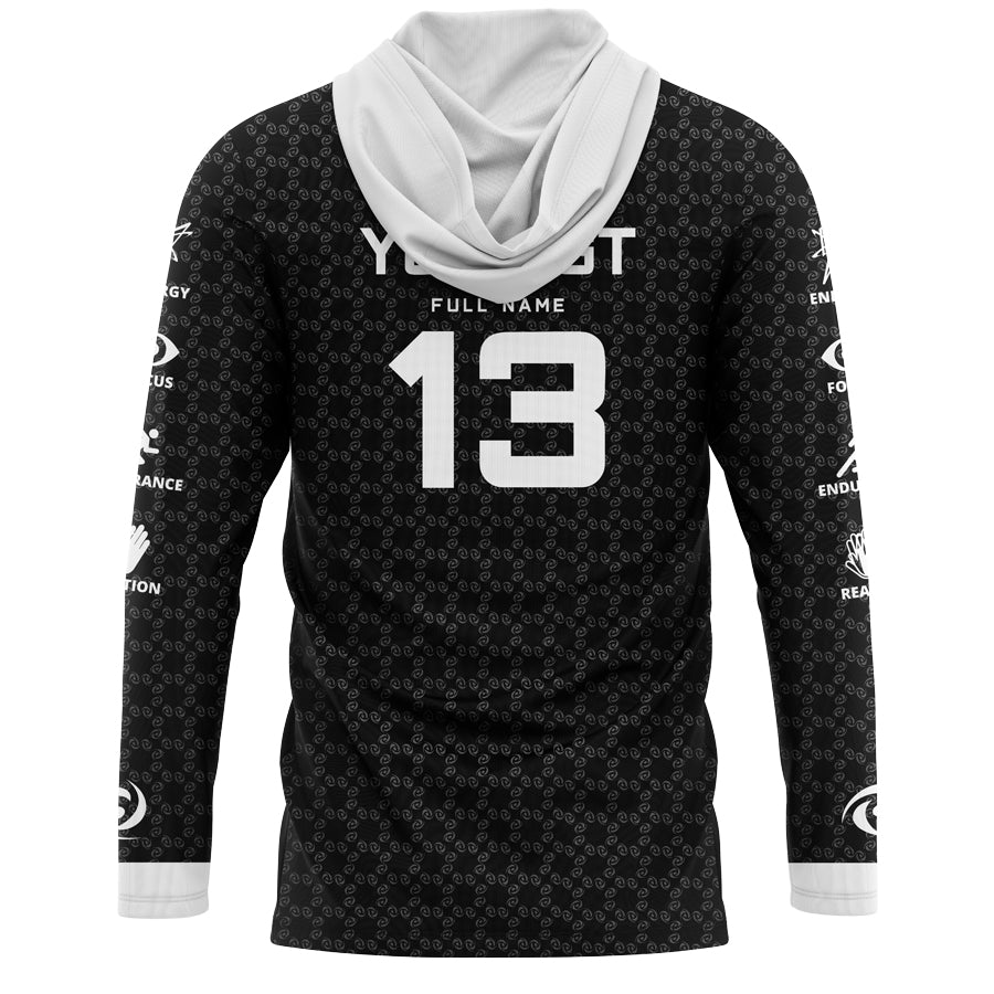 Custom G FUEL Long Sleeve Hooded Jersey
