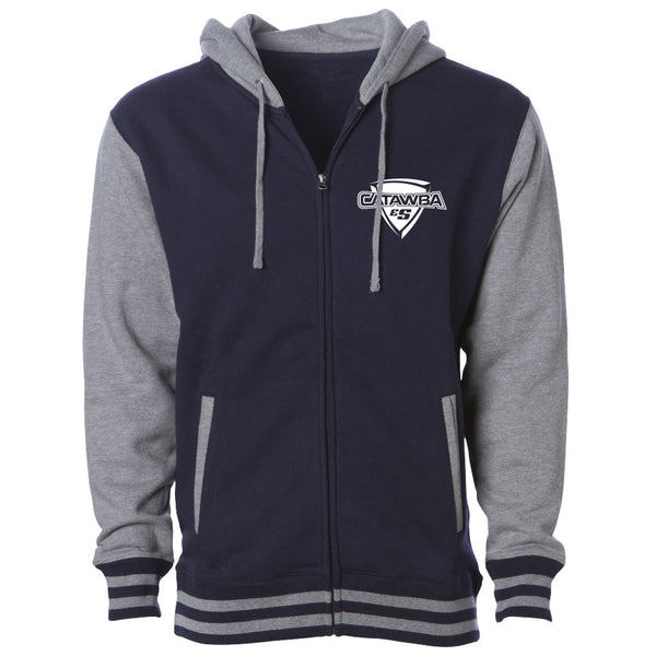 Catawba Icon Heart Hooded Varsity Jacket