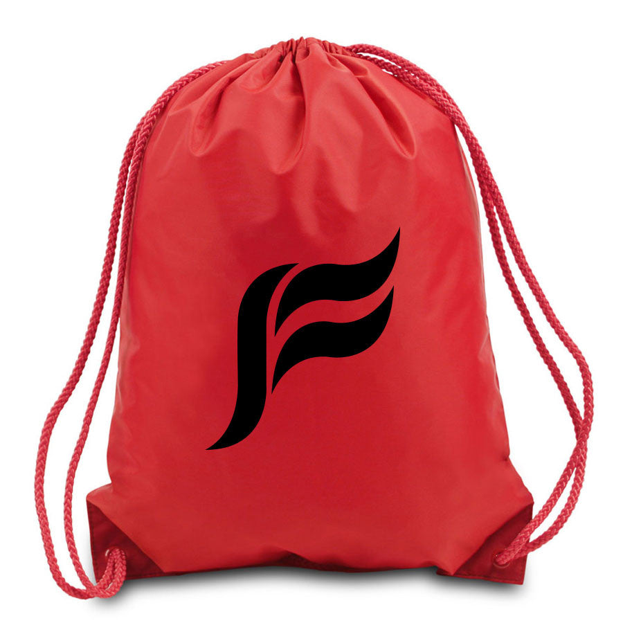 Felo Icon Cinch Bag - Blk on Red