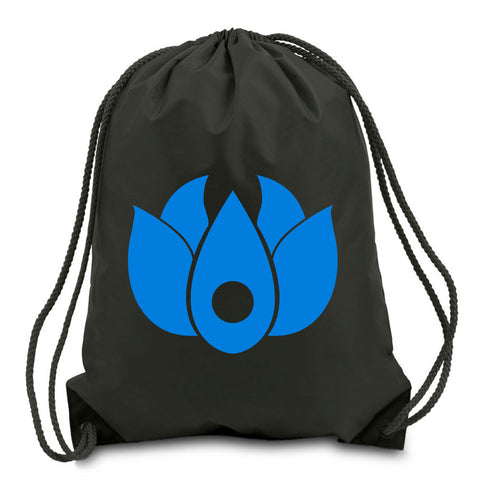 Flowers Icon Cinch Bag - NBlu on Blk