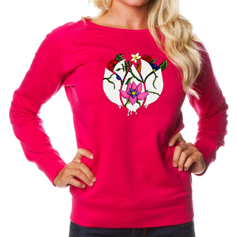 Flowers Icon FX Girls Crewneck - Pnk