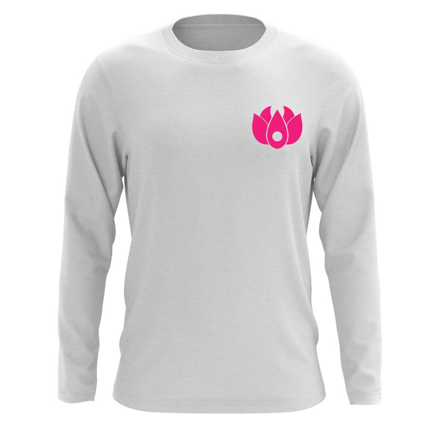Flowers Icon Heart Long Sleeve - NPnk on Wht