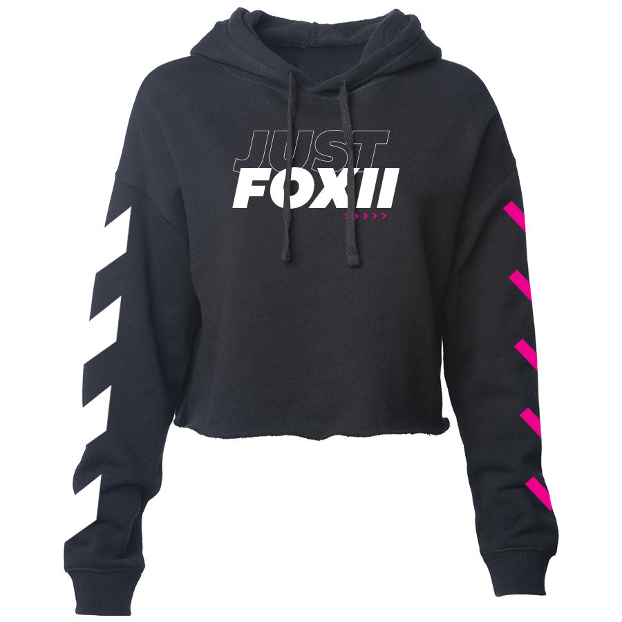 justfoxii Forward Combo Girls Lightweight Crop Hoodie