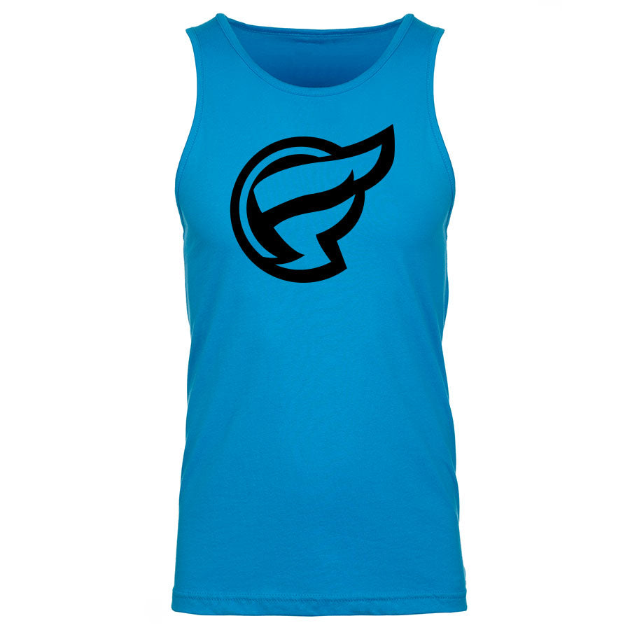 Frozone Icon Tank Top - Blk on Trq