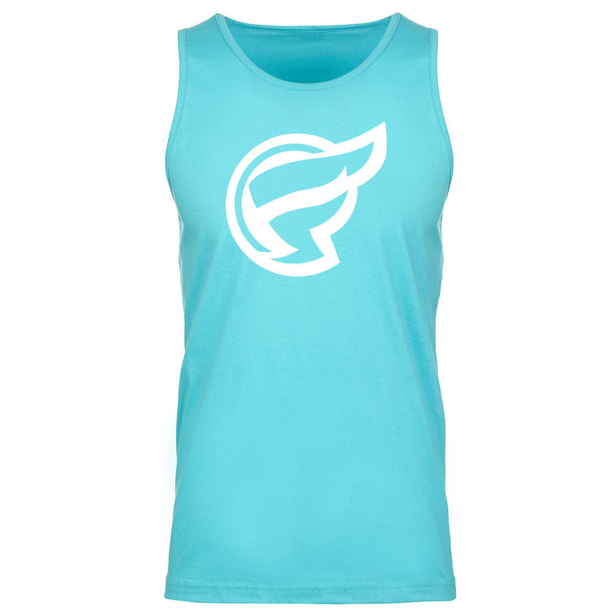 Frozone Icon Tank Top - Wht on TBlu