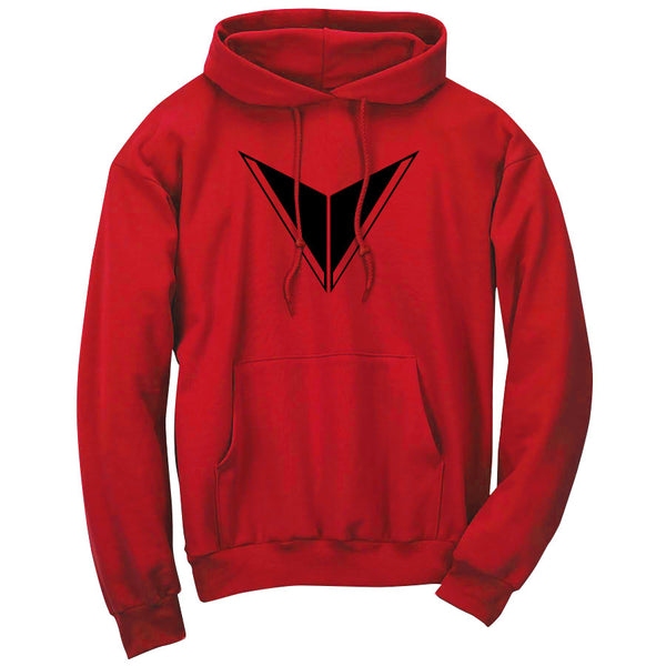 Graves Icon Hoodie - Blk on Red