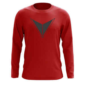 Graves Icon Long Sleeve - DGry on Red