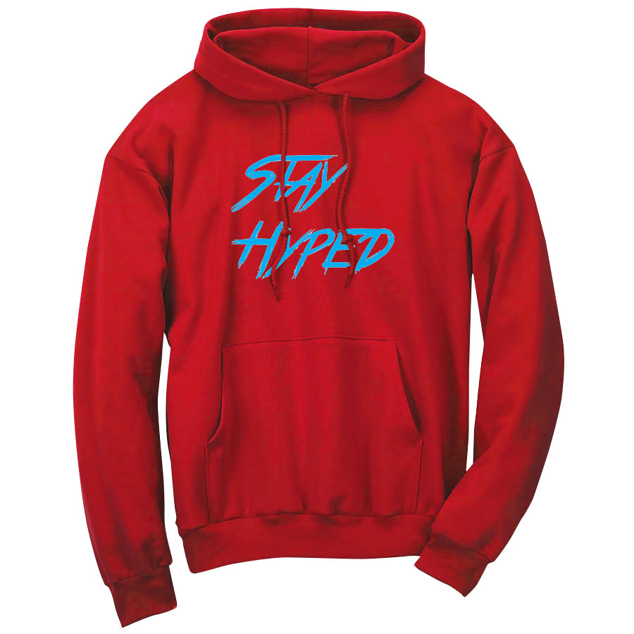 Graves Hyped FX Wht Hoodie - Red