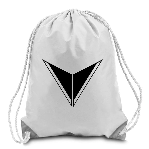 Graves Icon Cinch Bag - Blk on Wht
