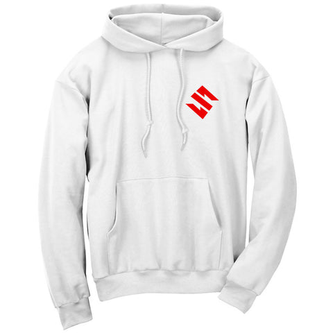 Slacked Icon Hoodie - Red on Wht