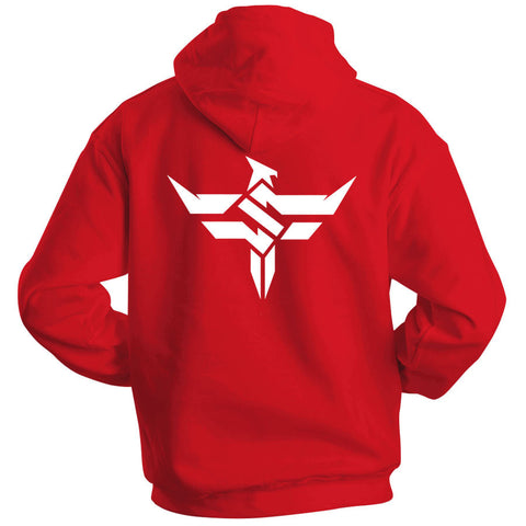 Slacked Icon Heart Hoodie - Wht on Red
