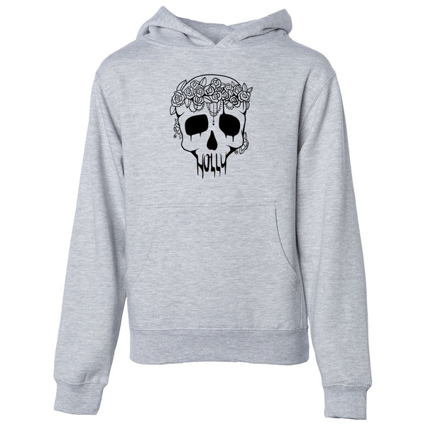 Holly Skull Youth Hoodie