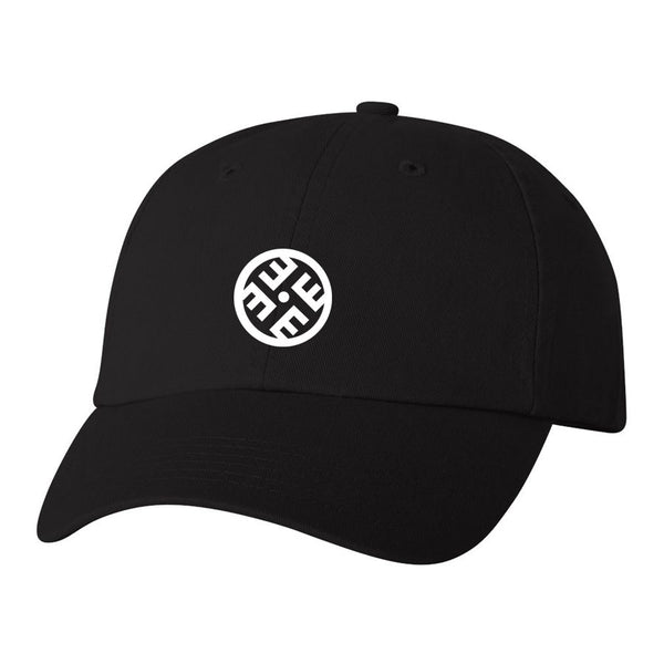 Janis Icon Dad Hat - Wht on Blk - Clearance Item