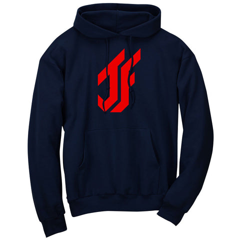 Jason Falco Icon Hoodie - Red on Nvy