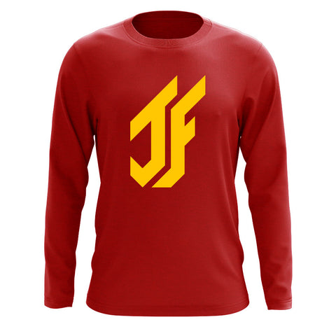 Jason Falco Icon Long Sleeve - Yel on Red