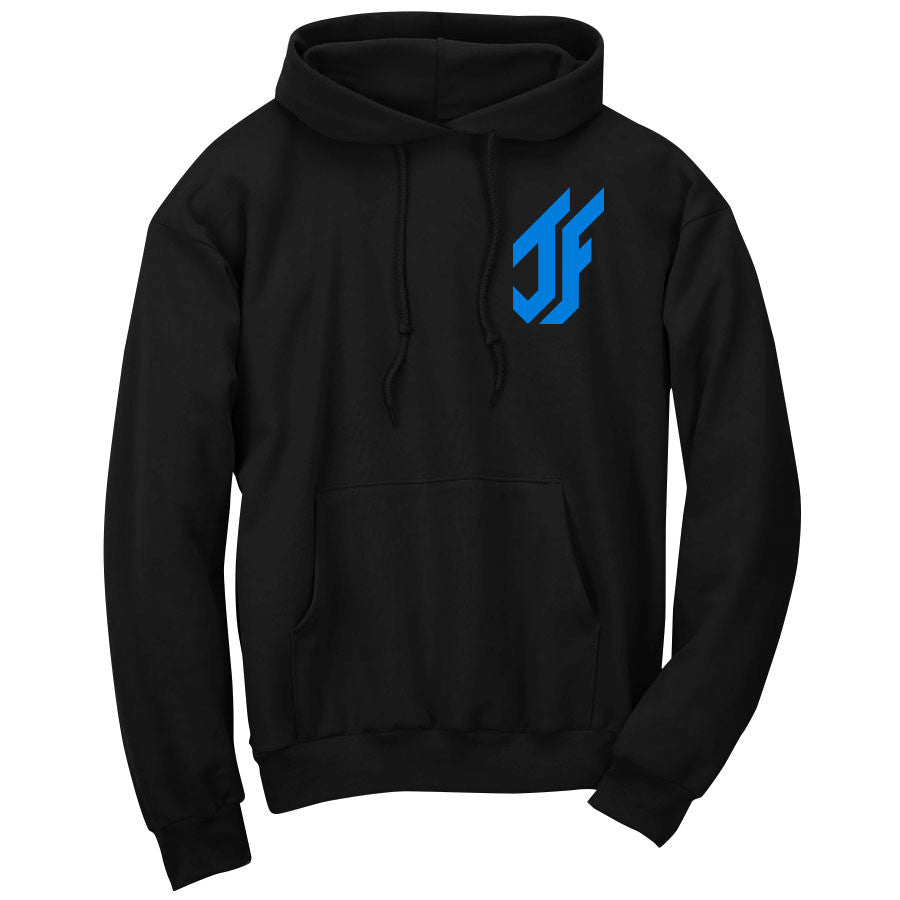 Jason Falco Icon Heart Hoodie - NBlu on Blk