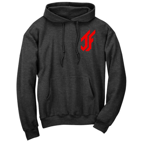 Jason Falco Icon Heart Hoodie - Red on ChclHthr