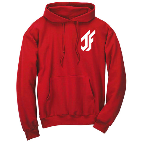 Jason Falco Icon Heart Hoodie - Wht on Red