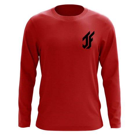 Jason Falco Icon Heart Long Sleeve - Blk on Red