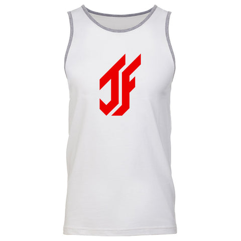 Jason Falco Icon Tank Top - Red on WhtHthr
