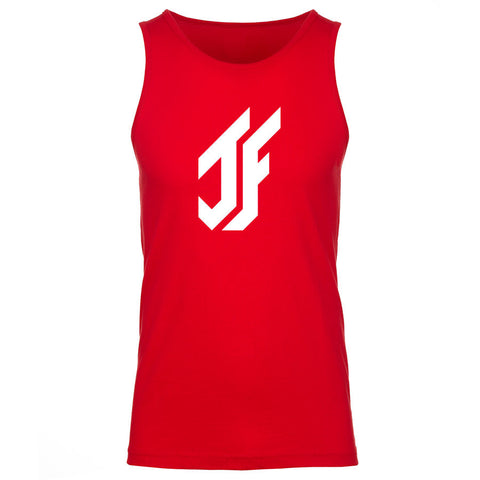 Jason Falco Icon Tank Top - Wht on Red